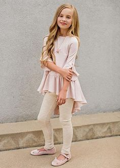 To School Outfit for kids Joyfolie Clementine Set in Blush Stripe Joyfolie Clementine Set in Blush Stripe Little Girl Leggings, Little Girl Outfits, Cute Girl Outfits, Kids Outfits Girls, Cute Outfits For Kids, Little Girl Fashion, Toddler Outfits, Toddler Fashion, Kids Fashion