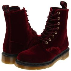Dr. Martens Page Women's Boots, Mahogany ($120) ❤ liked on Polyvore featuring shoes, boots, mahogany, stitch shoes, laced shoes, dr. martens, dr martens boots and lace up boots