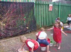FS2 try their hand at modern art ... Jackson Pollock