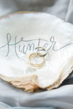 Shell accents: http://www.stylemepretty.com/connecticut-weddings/new-haven/2015/10/06/romantic-oceanside-elopement-in-connecticut/ | Photography: Callie Manion - http://www.calliemanionphotography.com/