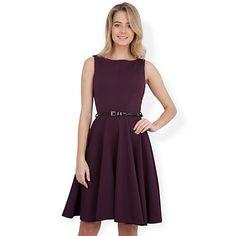 Buy Almari Waffle V-neck Dress, Aubergine Online at johnlewis.com