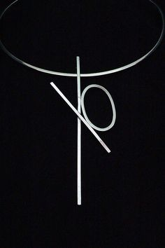 Lauren Chisholm - XO 1 necklace,  individually made by hand in the USA-  sterling silver/18k signature detail