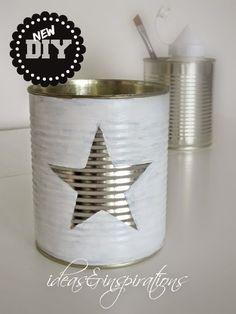 DIY Sternendose * star tin - can man in einen Adventkalender umwandeln: 24…