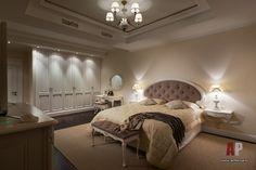 Фото интерьера спальни дома в стиле неоклассика