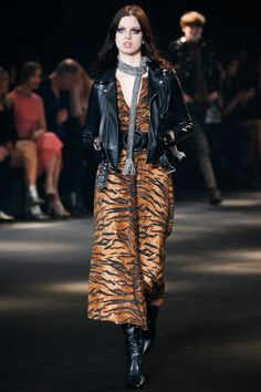 Lily McMenamy | Saint Laurent Fall 2016 Menswear (Photography: Indigital.tv via Vogue.com)