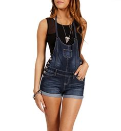 Dark Denim Short Overalls 34.90 I love overalls windsorstore.com