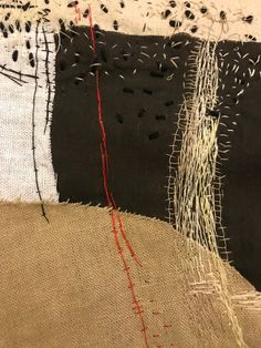 needle and stitch embroidery wabi sabi Article Gallery Ideas] . Contemporary Embroidery, Modern Embroidery, Embroidery Art, Embroidery Stitches, Textile Fiber Art, Textile Artists, Boro, Art Du Fil, Creation Art