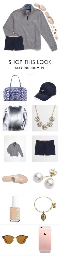 """""""birthday haul in description, pics in items!"""" by preppy-ginger-girl on Polyvore featuring Vera Bradley, Vineyard Vines, Saint James, J.Crew, Jack Rogers, Mikimoto, Essie, Alex and Ani and Ray-Ban"""