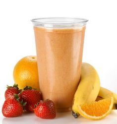Makes one Ingredients: 1 orange 1 apple 1 cup of strawberries 1 banana 2 peeled kiwi fruits Action: 1. Juice orange and apple in a juice machine. 2. Then pour it into a blender/food processor along with strawberries, banana and kiwi fruits! YUM! This recipe was created by Roxana Ireland