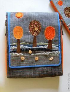 """Сумка из джинсы """"Осень"""" - однотонный,сумка из джинсы,джинсовый стиль,джинсовая сумка"""