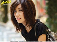 shoulder-length cut- possibly