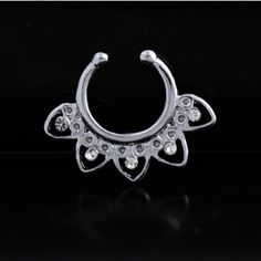 Silver plated fake septum ring New. Stunning silver plated fake septum ring. Thank you for visiting my closet, please let me know if you have any questions. I offer great discounts on bundles  also available in rose gold and yellow gold - there're separate listings for those. Boutique Jewelry