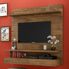 Modern furniture for television: 8 sensational ideas that you can easily adapt in your home! Tv Unit Decor, Tv Wall Decor, Room Decor, Wall Tv, Deco Tv, Tv Wanddekor, Tv Unit Furniture, Furniture Ideas, Modern Furniture