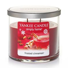 Yankee Candle simply home 10-oz. Frosted Cinnamon Jar Candle #Kohls #holiday #decor