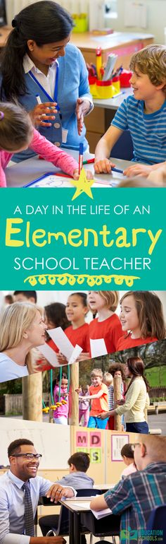 Share a typical day teaching elementary school so you'll know what to expect. Elementary Teacher, School Teacher, Elementary Schools, Educational Leadership, Classroom, Teaching, Children, Day, Life