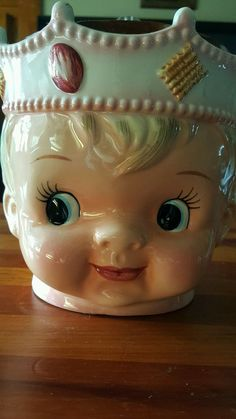 Vintage Rare Lefton Boy King Cookie Jar