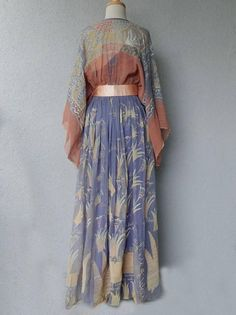 """1971 Zandra Rhodes """"Japan and Lovely Lilies"""" Collection Maxi Dress w/Belt 4"""