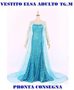 TG-Taglia M - Costume da donna Frozen adulta adulto adulti famosi cartoni  animati damina 6cf187c8951