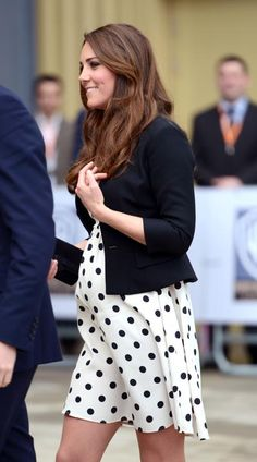 Kate in 2013: She redefined maternity style: Middleton kept her status as a fashion icon throughout her pregnancy. Her secret? Looking polished, thanks to maternity staples such as cropped, fitted blazers, tweed coats, and empire-waist dresses. Her comfy and sexy wardrobe set a new precedent that pregnancy isn't a fashion prison sentence.