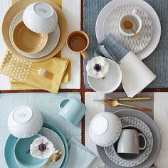 Center Stripe Woven Napkin Set These napkins and tablecloths keep going on sale. Really like the grey ones and the blue ones. & Potter\u0027s Workshop Dinnerware Sets | South African Artist ...