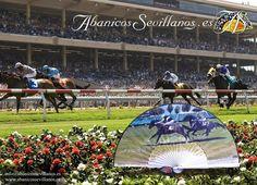 Abanico diseñado para eventos deportivos. Fan designed for sporting events. www.abanicossevillanos.es Horse Photos, Equestrian, Have Fun, Heaven, Horses, Image, Hand Fans, Events, Sports