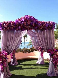 Beautiful canopy for an outside wedding!