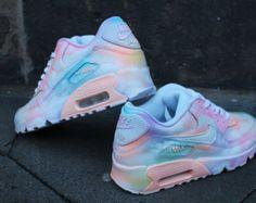 Custom painted Nike Air Max 90 Cloudy pastell Dream Art Style Sneaker *UNIKAT*