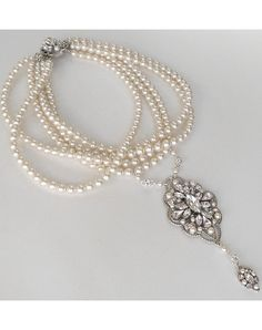 Perfect Details Cheryl King Multi Strand Pearl Necklace with Pendant - The Knot