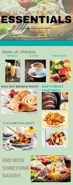 Check out How To Plan The Best Sunday Brunch at http://homemaderecipes.com/course/breakfast-brunch/how-to-plan-the-best-sunday-brunch/