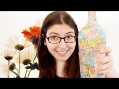How to Make a Collaged Map Bottle (also use for old book pages)
