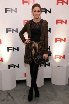 Olivia Palermo Footwear Awards Brown Outfit