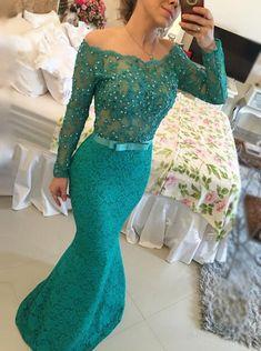 Mermaid Dress,Dark Green Dress,Mermaid Prom Dress,Long Prom Dress,Long Mermaid Dress
