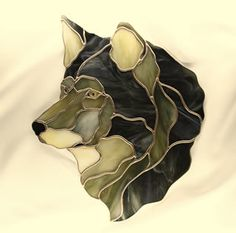 Obsession Art Glass Stained Glass Kits and patterns - Alpha. Dog or wolf