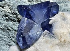 ∆ Benitoite… Rough benitoite crystals...