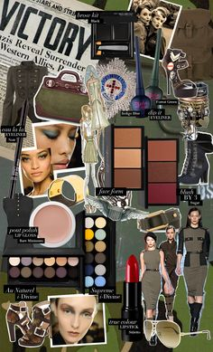 I'm usually not fan of military style but these picks are hot! Military Chic, Military Fashion, Makeup Brands, Drugstore Makeup, Brows, Eyeliner, Brow Kit, Sleek Makeup, Photo Makeup