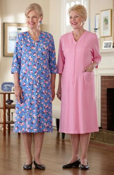 Parkinsons Clothing - Shop By Need Adaptive Clothing for Seniors, Disabled & Elderly Care Lady Diana Spencer, House Dress, Baby Girl Dresses, Traditional Dresses, Knit Dress, Casual, Womens Fashion, Ladies Fashion, Gowns