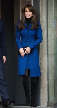 Pin for Later: The 1 Style Trick Kate Middleton's Been Hiding Up Her Sleeve To Contrast an All-Black Foundation of Tights and a Turtleneck