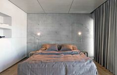 curtain as wall treatment // Scandinavian Retreat: Estonian concrete