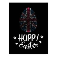 Happy Easter and Easter egg with American flag Postcard - holiday card diy personalize design template cyo cards idea