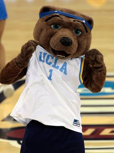 INDIANAPOLIS - APRIL 03:  Joe Bruin, the UCLA Bruins mascot. performs during a break in the game against the Florida Gators during the National Championship game of the NCAA Men's Final Four on April 3, 2006 at the RCA Dome in Indianapolis, Indiana.  The
