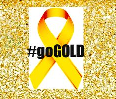 #goGold with this profile ribbon in September for Childhood Cancer Awareness Month | Go Gold
