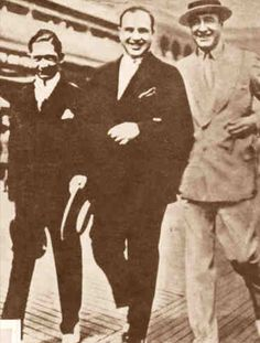 Meyer Lansky, Al Capone and Enoch Jhonson.