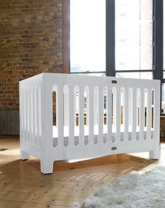 bloom alma max crib - folds away for storage