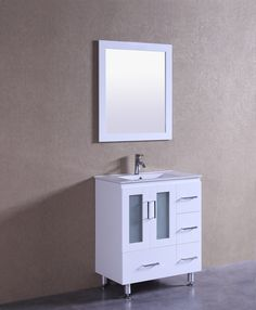 Violet 30 Inch White Vanity White Vanity, Apartment Therapy, Faucet, Bathroom, Home, Washroom, House, Water Tap, Bath Room