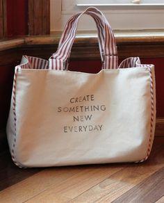 Bag tutorial ... Like to make this #tote #bag