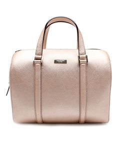 Look at this Kate Spade Rose Gold Cassie Newbury Lane Leather Satchel on #zulily today!