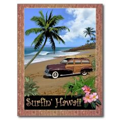 Shop Surfin' Hawaii Postcard created by Personalize it with photos & text or purchase as is! California Logo, Soul Surfer, Top Tattoos, Birthday Cards For Men, Postcard Size, Sell Your Art, Top Artists, Surfboard, Paper Texture