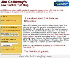 Jim Calloways Law Practice Tips Blog - Click to visit blog:  http://1.33x.us/Ix6jj7