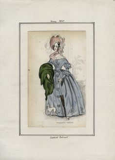 May 1837 Walking Dress Ladies' Cabinet