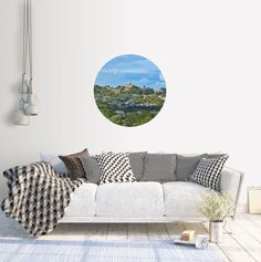 Excited to share the latest addition to my #etsy shop: Adhesive Wall Decal Dot | One Tree Hill from Monte Cecila Park #art #photography #landscape #circle #adhesive #newzealand #auckland #hill #volcano
